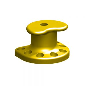 Kidney shaped mooring bollard